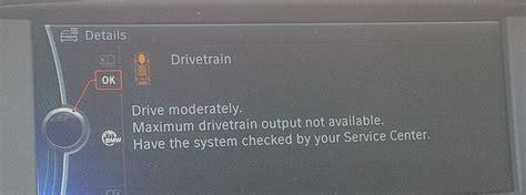 bmw 328i drivetrain malfunction drivetrain malfunction error cold weather related