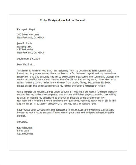Resignation Letter Format Hotel Industry how to write a resignation letter cover letter