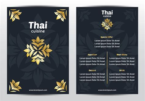 Elegant Thai Menu Template Download Free Vector Art Stock Graphics Images Thai Restaurant Menu Templates Free