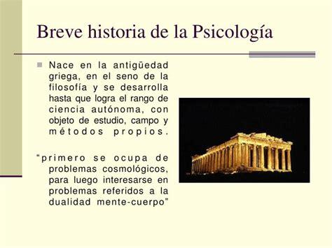 breve historia de la ppt psicolog 237 a powerpoint presentation id 5111780