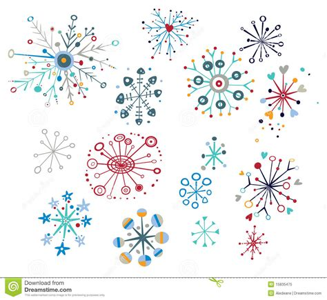 decorative snowflakes stock vector image of snowflake