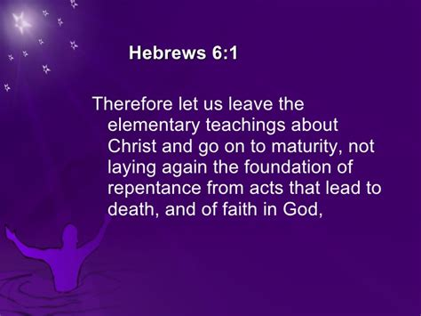 hebrews 6 1 3 leave these elementary teachings birthday of the church