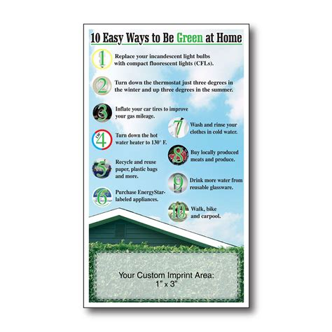 ways to be green at home eco friendly promotional products enviornmentally friendly