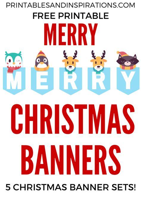 printable merry christmas banners printables  inspirations