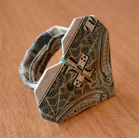 How To Make An Origami Dollar Ring - dollar bill origami ring by craigfoldsfives on