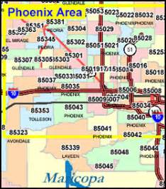 zip code map arizona arizona zip code map including county maps