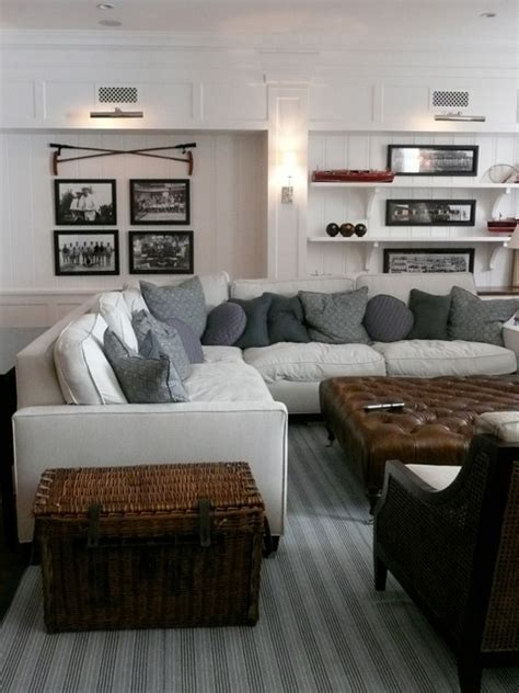 light gray sectional sofa cottage living room