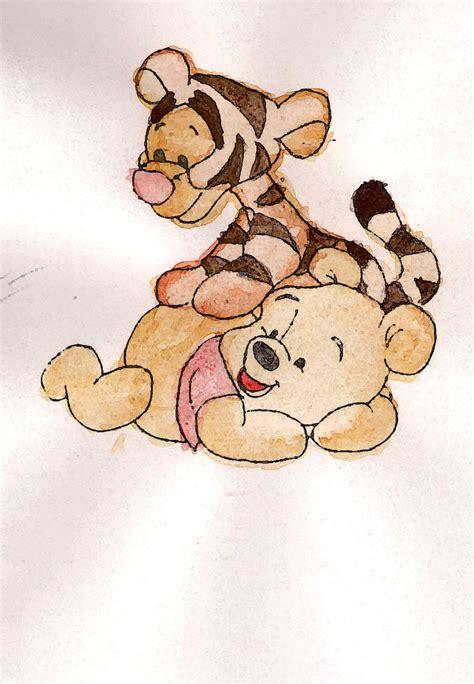 baby tiger pooh bear duckmad deviantart