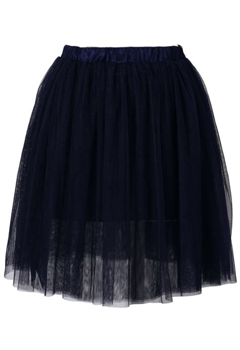navy blue mesh tulle skirt retro and unique fashion