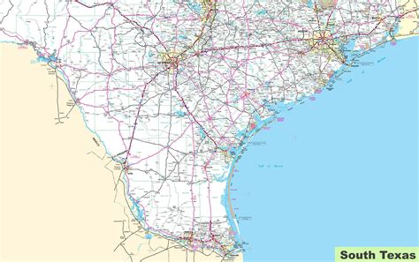 where is texas on the map map of south texas