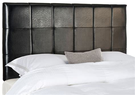 Black Leather Headboard Quincy Black Leather Headboard Headboards Furniture By Safavieh