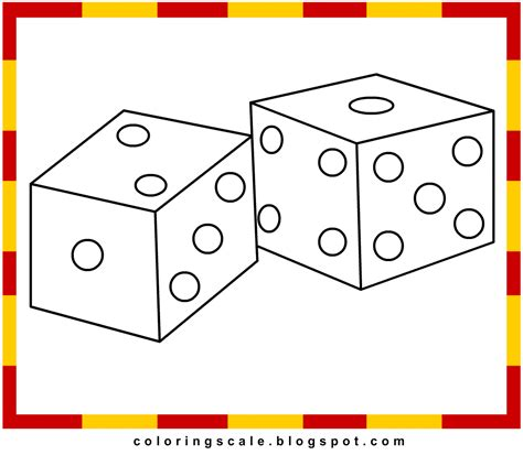coloring pages printable for kids dice coloring pages for