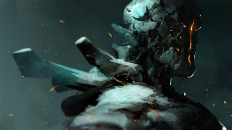 painting android android robot scifi concept wallpaper digitalart io