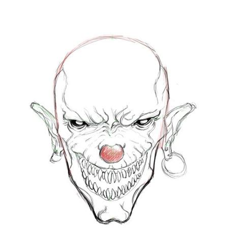pages scary scary clown coloring pages regarding motivate cool
