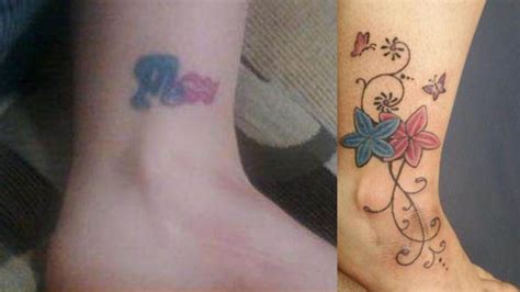 break up tattoos clever cover up tattoos after the up ink tattoos