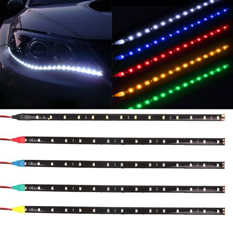 led car light strips waterproof car auto decorative led highpower 12v 30cm 15smd car led daytime