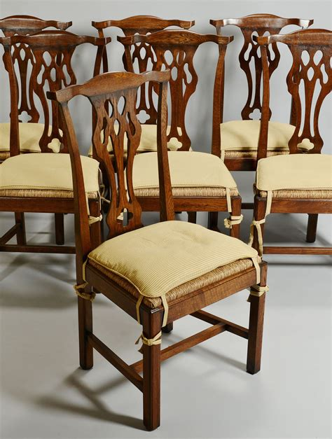 Chippendale Style Dining Chairs Lot 351 Set Of 12 Chippendale Style Oak Dining Chairs