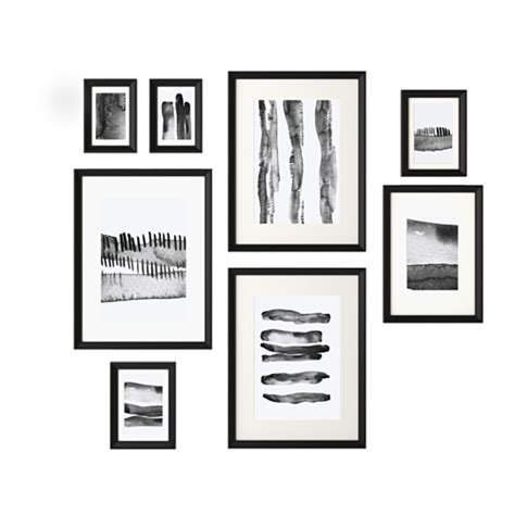 KNOPPÄNG Frame with poster, set of 8   IKEA