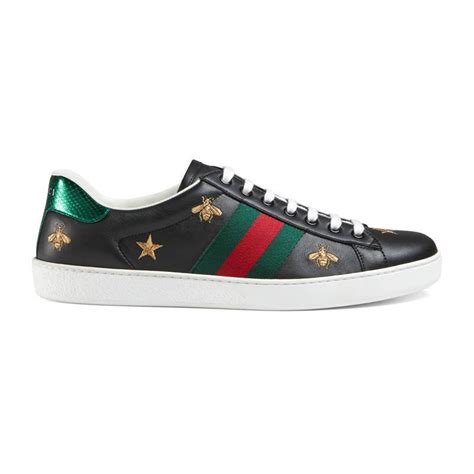 Harga Gucci Ace Embroidered lyst gucci ace embroidered low top sneaker in black for