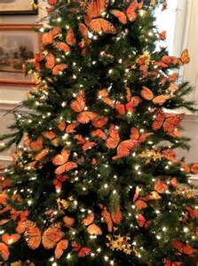 monarch butterfly christmas tree holiday decorating