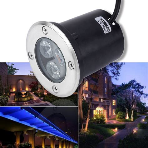 12v Landscape Lighting 3w Led Waterproof Outdoor In Ground Garden Path Flood