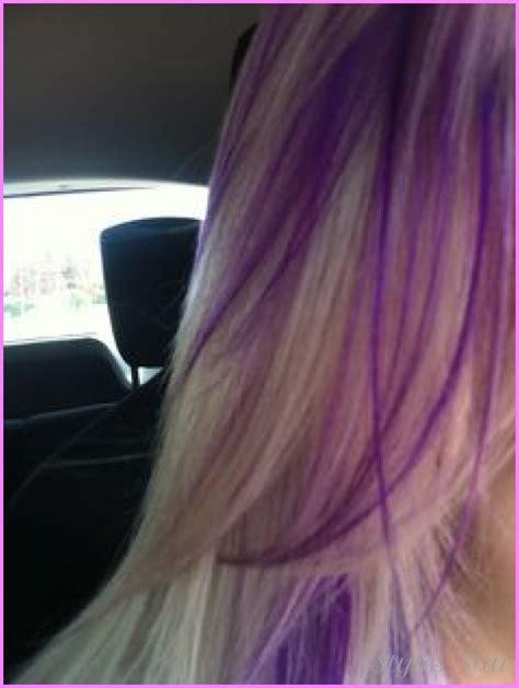 hair color pictures blonde purple lowlights blonde hair with purple lowlights stylesstar com