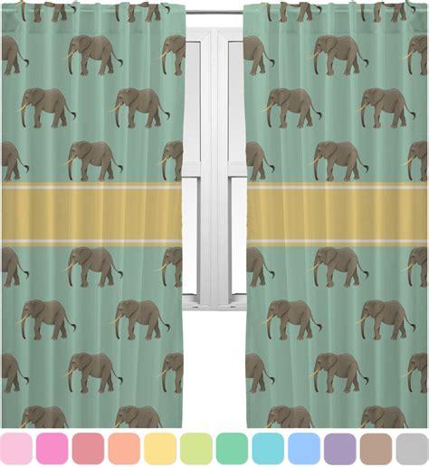 elephant window curtains elephant curtains 40 quot x54 quot panels lined 2 panels per