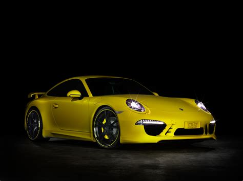 yellow porsche 2012 yellow porsche 911 by techart wallpapers