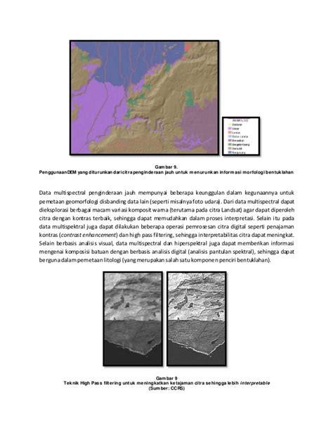 tutorial pemetaan arcgis remote sensing for geomorphology image processing short