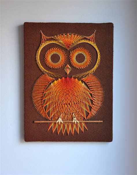 retro owl string pin