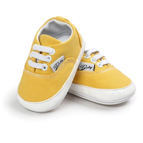 Infant Baby Girl Boy Soft Sole Canvas Sneakers Infant Crib Crib Sneakers Baby