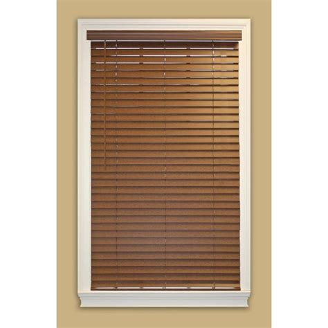 shop allen roth 2 in cordless bark faux wood room