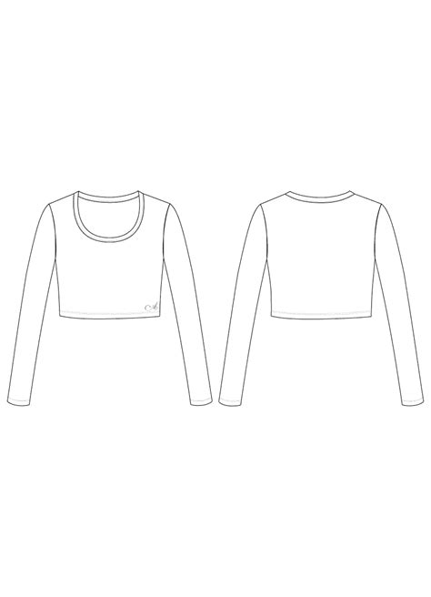 top templates sleeve crop top in jersey ainsliewear