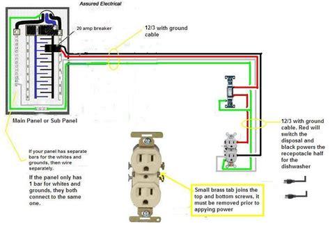 garbage disposal switch under wiring diagram for garbage disposal outlet leviton dual
