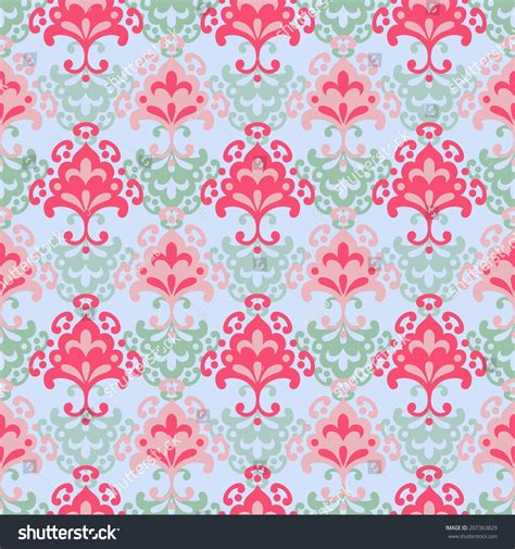 shabby chic patterns pattern shabby chic stock vector illustration 207363829