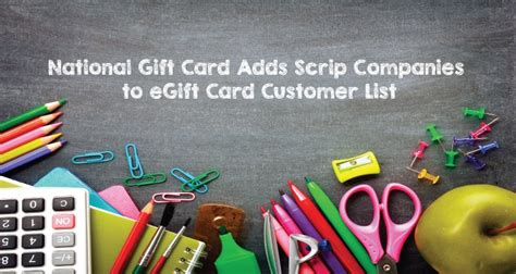 Scrip Gift Card List - national gift card adds scrip companies to egift card customer list