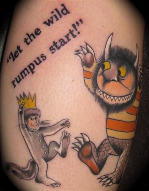 where the wild things are tattoos where the things are tattoos contrariwise literary