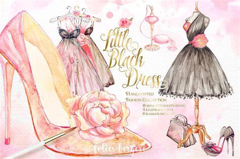 fashion clipart black dress fashion clipart illustrations