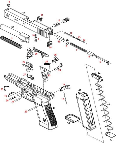 glock exploded diagram 25 best images about exploded diagrams on