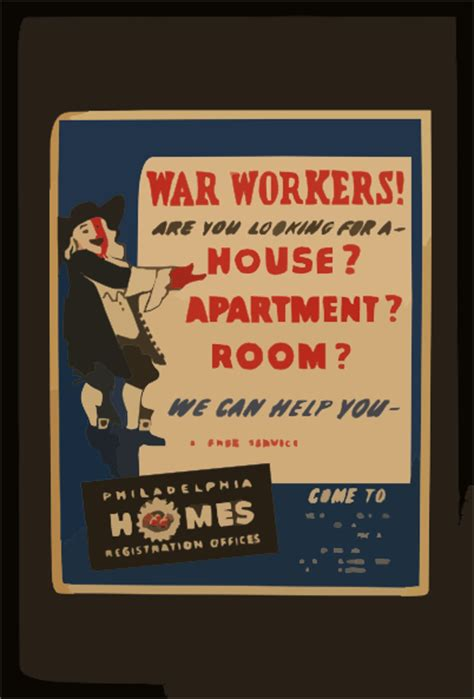 war workers      house apartment