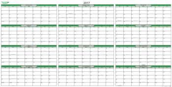 Annual Planner Template 2017 Calendar Planner Yearly Calendar Printable