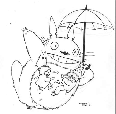 My Totoro Coloring Pages totoro by theamat on deviantart