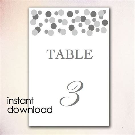 table number templates for word diy table numbers template instant download microsoft