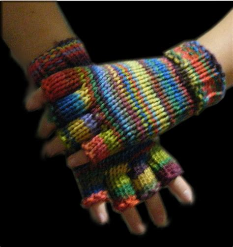 knitting pattern gloves with fingers how to loom knit half finger gloves youtube