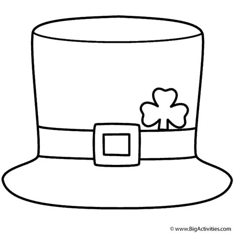leprechaun hat coloring page st patrick s day