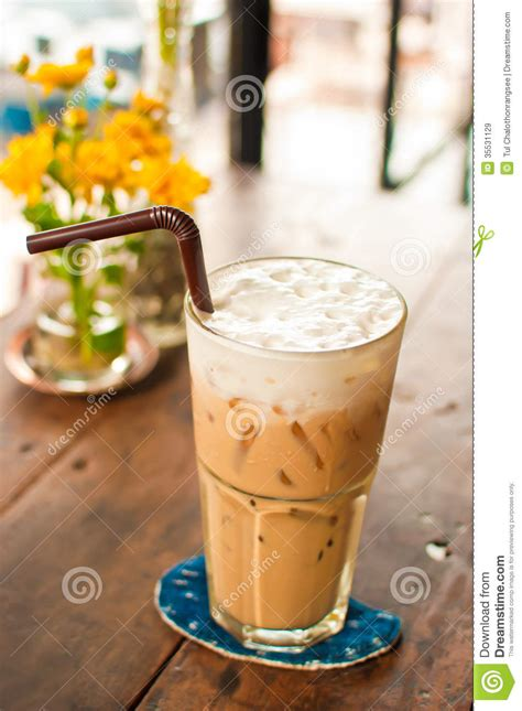 Iced Latte Coffee Royalty Free Stock Images   Image: 35531129