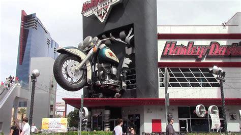 Harley Davidson Of Las Vegas by Motorcycle Crashes Through Harley Davidson Cafe Las