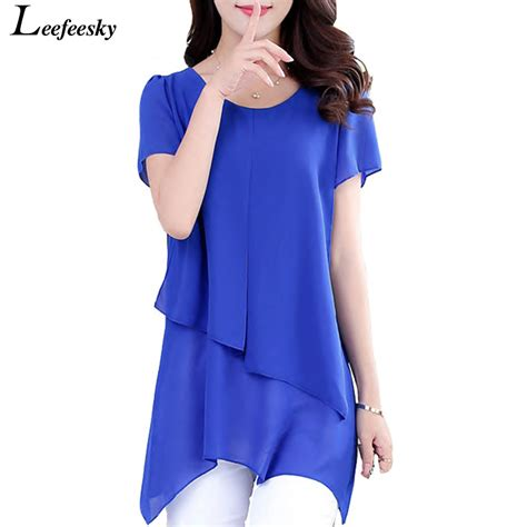 Summer Shirt Perspective Casual Chiffon Tops Blouses Size M summer shirts blouses 2017 new sleeve chiffon blouse shirt casual plus size