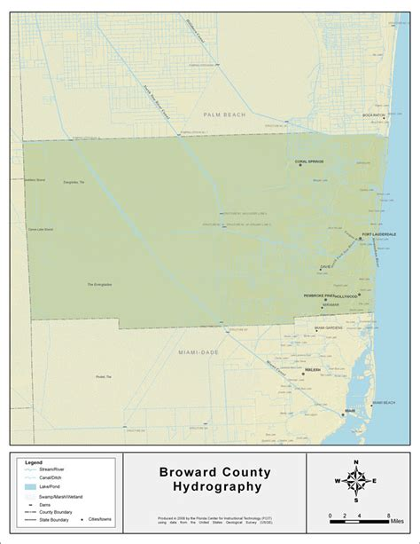 broward county florida map florida waterways broward county 2008