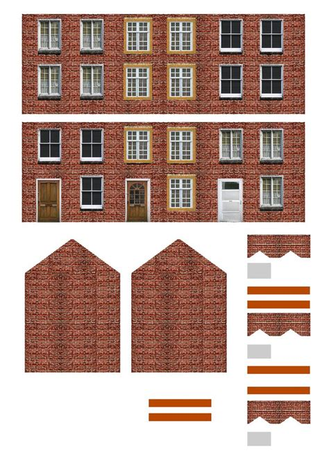 How To Make Paper Models Of Buildings - free printable ho scale buildings miniature